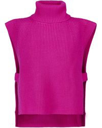 Étoile Isabel Marant Pullunder Megan aus Wolle - Pink