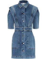 Stella McCartney Stretch-denim Dress - Blue