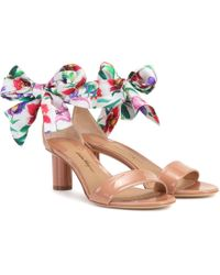 Ferragamo - Tursi 50 Patent Leather Sandals - Lyst