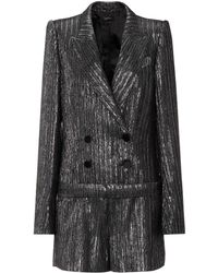 Isabel Marant - Derron Double-breasted Lurex Playsuit - Lyst