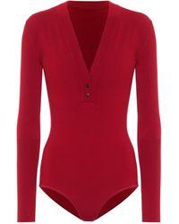 Alaïa Wool-blend Bodysuit - Red
