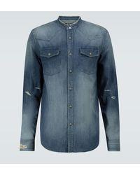 Balmain Chemise en jean - Bleu