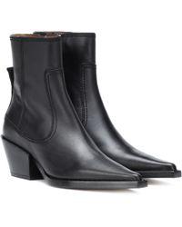 JOSEPH Leather Ankle Boots - Black