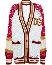 Dolce & Gabbana Cardigan en dentelle - Rouge