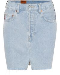 Vetements X Levi's® Denim Miniskirt - Blue