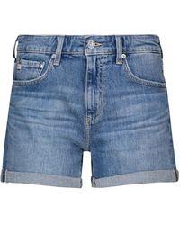 AG Jeans Shorts di jeans Hailey a vita alta - Blu