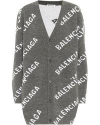 Balenciaga Cardigan aus Wolle - Grau