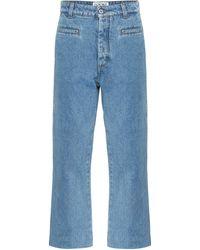 Loewe High-Rise Boyfriend Jeans - Blau