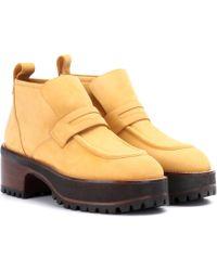 Sies Marjan - Jane Suede Platform Ankle Boots - Lyst