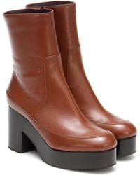 Dries Van Noten Ankle Boots aus Leder - Braun