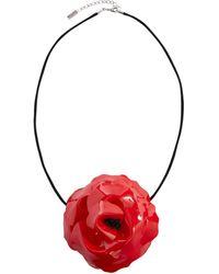 Saint Laurent Choker floral - Rojo
