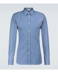 Alexander McQueen Camicia Harness in cotone - Blu