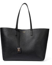 Versace Shopper Virtus in pelle - Nero