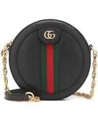 Gucci Minibolso de Hombro Ophidia Redondo - Negro