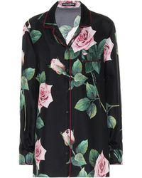 Dolce & Gabbana Floral Silk-faille Skirt - Multicolor