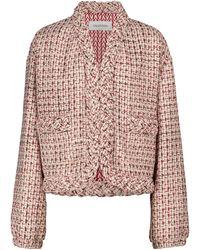 Valentino Veste en tweed de laine mélangée - Rose