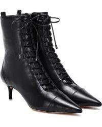Alexandre Birman Millen 50 Leather Ankle Boots - Black