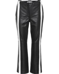 Mugler | Striped Leather Trousers | Lyst