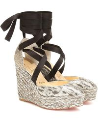Christian Louboutin Dona Susan 120 Espadrille Wedges - Multicolor