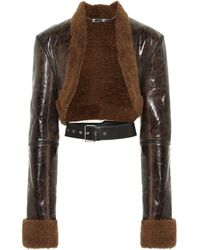 Peter Do Reversible Shearling Leather Jacket - Brown