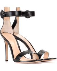 Gianvito Rossi - Portofino 105 Leather Sandals - Lyst