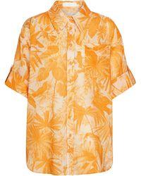 Zimmermann Hemd Mae aus Baumwolle - Gelb