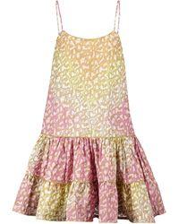 Juliet Dunn Leopard-print Cotton Minidress - Pink