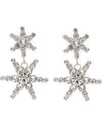 Jennifer Behr Pluto Crystal-embellished Earrings - Metallic