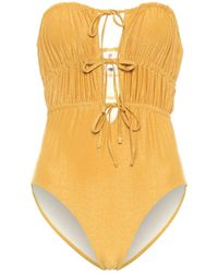 Solid & Striped The Paula Swimsuit - Metallic