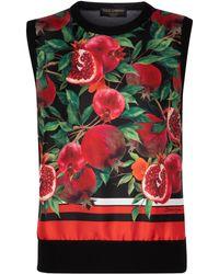 Dolce & Gabbana Exklusiv bei Mytheresa – Pullunder aus Kaschmir und Seide - Pink