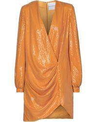 Halpern Minikleid mit Pailletten - Orange