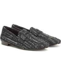 Bougeotte Tweed Loafers - Gray