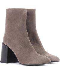 Acne Studios - Saul Reverse Suede Ankle Boots - Lyst