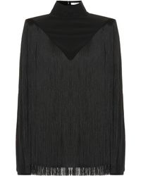 Givenchy - Fringed Silk Top - Lyst