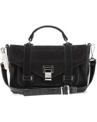 Proenza Schouler - Ps1+ Tiny Leather And Suede Shoulder Bag - Lyst