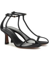Neous Jumel 80 Grosgrain Sandals - Black
