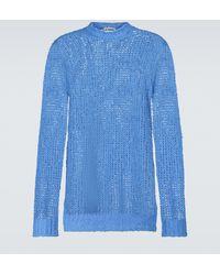 Jil Sander Pullover in lino - Blu