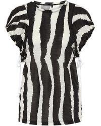 Proenza Schouler Zebra-print Top - Black