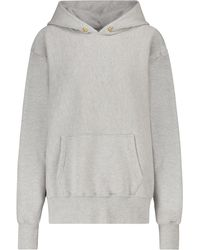 Les Tien Cotton-fleece Hoodie - Grey