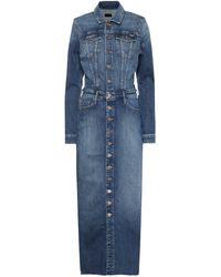 Mother Cover Up Denim Maxi Dress - Blue