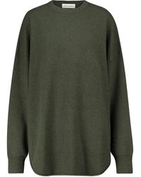 Extreme Cashmere N° 53 Crew Hop Cashmere-blend Sweater - Green