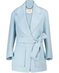 Dorothee Schumacher Exciting Volumes Wool-blend Coat - Blue