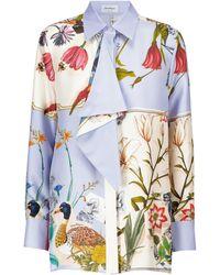 Ferragamo Printed Silk Shirt - Blue