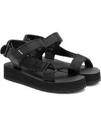 Prada Sandales Nomad à plateforme - Noir