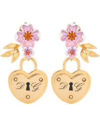 Dolce & Gabbana - Locket Clip-on Earrings - Lyst