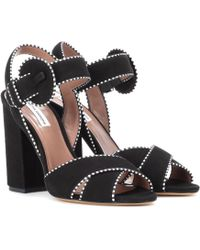 Tabitha Simmons - Andres Suede Sandals - Lyst