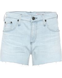 AG Jeans - High-Rise Jeansshorts Hailey - Lyst