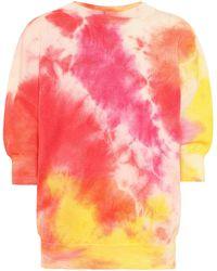MSGM Tie-dye Wool Sweatshirt - Red