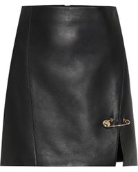 Versace Leather Miniskirt - Black