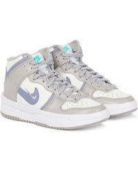 Nike Sneakers Dunk High Rebel aus Leder - Lila